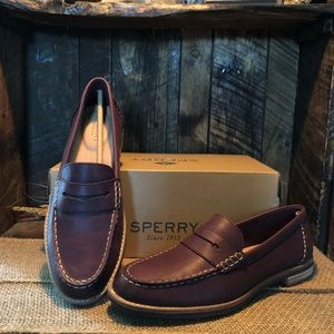 f9128651a56 Sperry Shoes - NEW WITH BOX - SPERRY Wine Seaport Penny Loafer